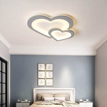 VEIHAO Modern Led Ceiling Lights Heart Shaped Bedroom Children's Room Girl Room Corridor Balcony Aisle Gray White Ceiling lamp