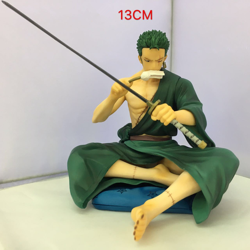 One Piece Zoro 1/8 Scale Painted Action Figure Sitting Ver. Roronoa Zoro PVC Action Figure Collectible Model Toy 13cm KT3913 megahouse variable action heroes one piece roronoa zoro pvc action figure collectible model toy 18cm opfg508
