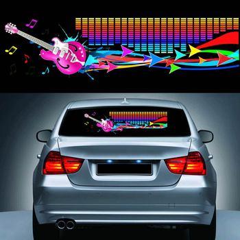 90*25CM pegatina de ritmo musical para coche ecualizador LED destellos de neón pegatinas de luz coches estilo de automóvil decoración atmósfera lámpara NR-ship