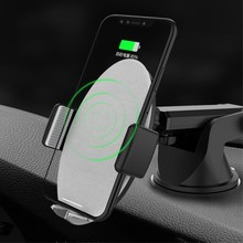 Brand  Automatic induction touch electric mute sensor Qi wireless charger glass/desktop bracket S7 S8 S9 for the iPhone 8*C type