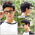 Fashion Men's Short Straight Light Brown/Dark Brown/Black Wig Male High Quality Natural Hair Full Wigs+Free Wig cap