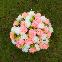 Arreglo de Flores Artificiales de Rose de seda Ramo De La Boda Centro de Mesa Artesanía Romana Pilares Sostenedores de La Vela Flores
