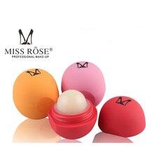 MISS ROSE Marca Protetor de Sabor Doce de Frutas Hidratante Labial Maquiagem Lábios Bola Bálsamo Batom Ingredientes Orgânicos 120 pçs/lote