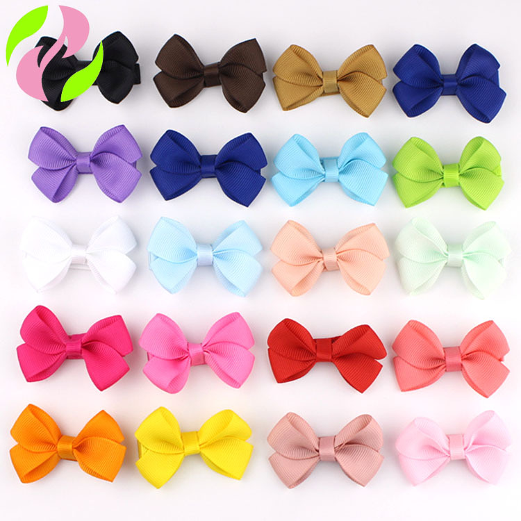 2.16 Inch Colorful Toddler Baby Girls Boutique Hair Clip Bows Ribbon Hairpins Hairgrip Headwear For Children ZYAA1723