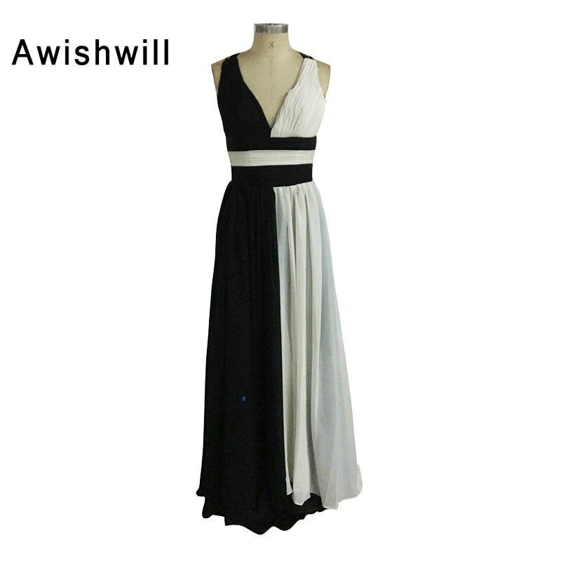 Fashion V neck Slim Crossing Backless Prom Dsses Ladies Evening Party Dress Gown Long Dress Robe De Soiree Vestido De Festa