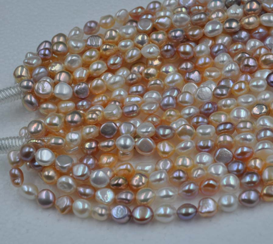 Wholesale 5 strands 9 9 5 11mm Baroque Freshwater pearl strings good shiny