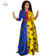 2017 африканські сукні для жінок Fashion Design dashiki women bazin riche o-neck long dress dashiki plus size natural 6xl WY1236