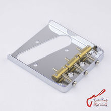 1 Set GuitarFamily  Vintage Type Fixed Electric Guitar Bridge With Brass Saddles  Chrome   ( #1243 ) MADE IN KOREA