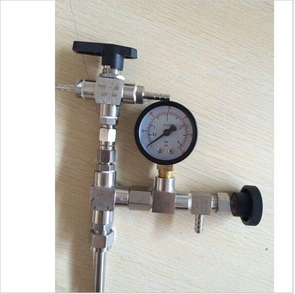 homebrew Stainless Steel Counter Pressure Beer Bottle Filler CO2 with regulator gauge