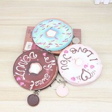 Katuner Girls Donut Coin Purse Woman Leather Wallet For Key Card Kids Children Coin Pouch Women Mini Bag Porte Monnaie K07(China)