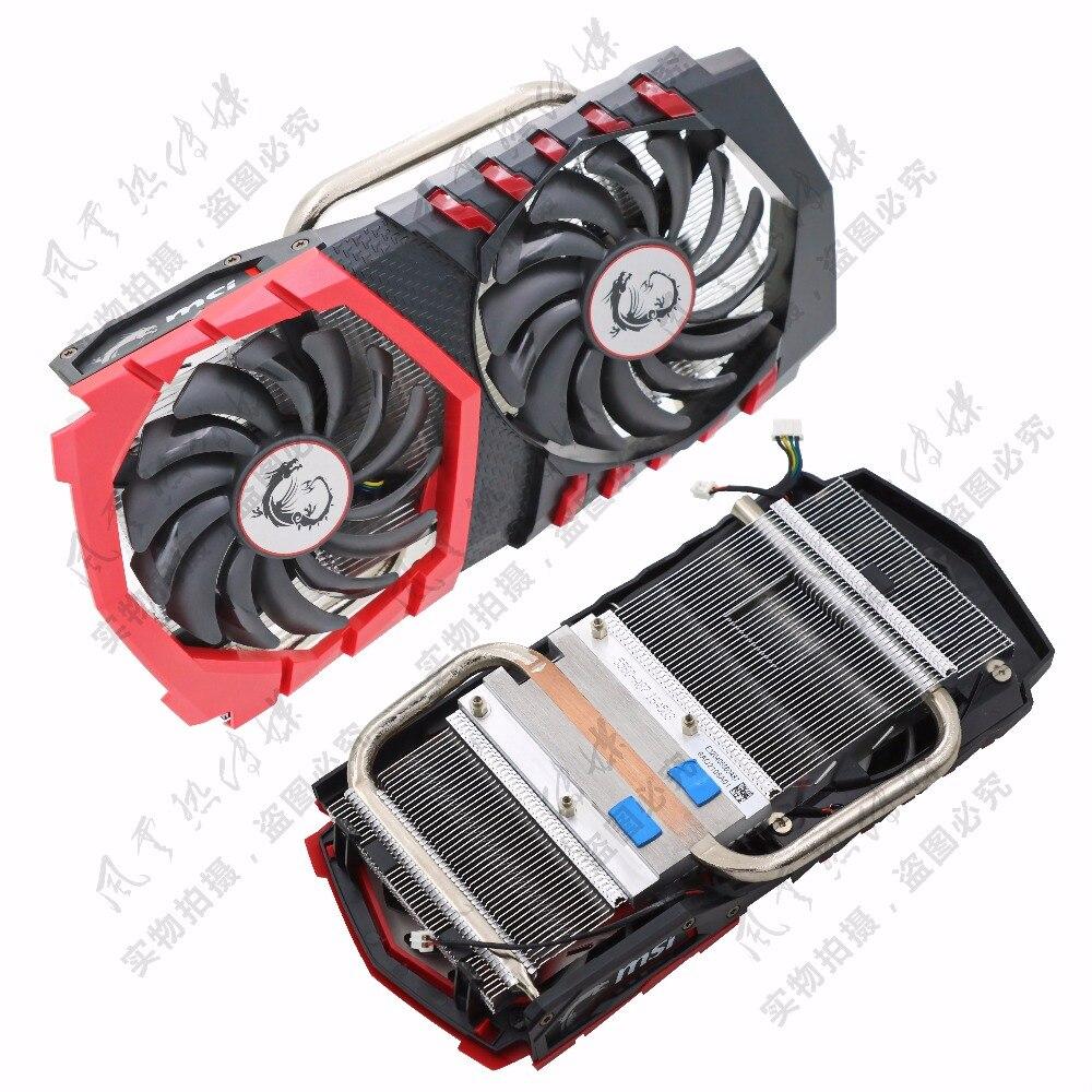 Original for MSI GTX1050Ti/GTX1050 GAMING red dragon video card radiator with dragon spirit lamp FONSONING dragon card 1l