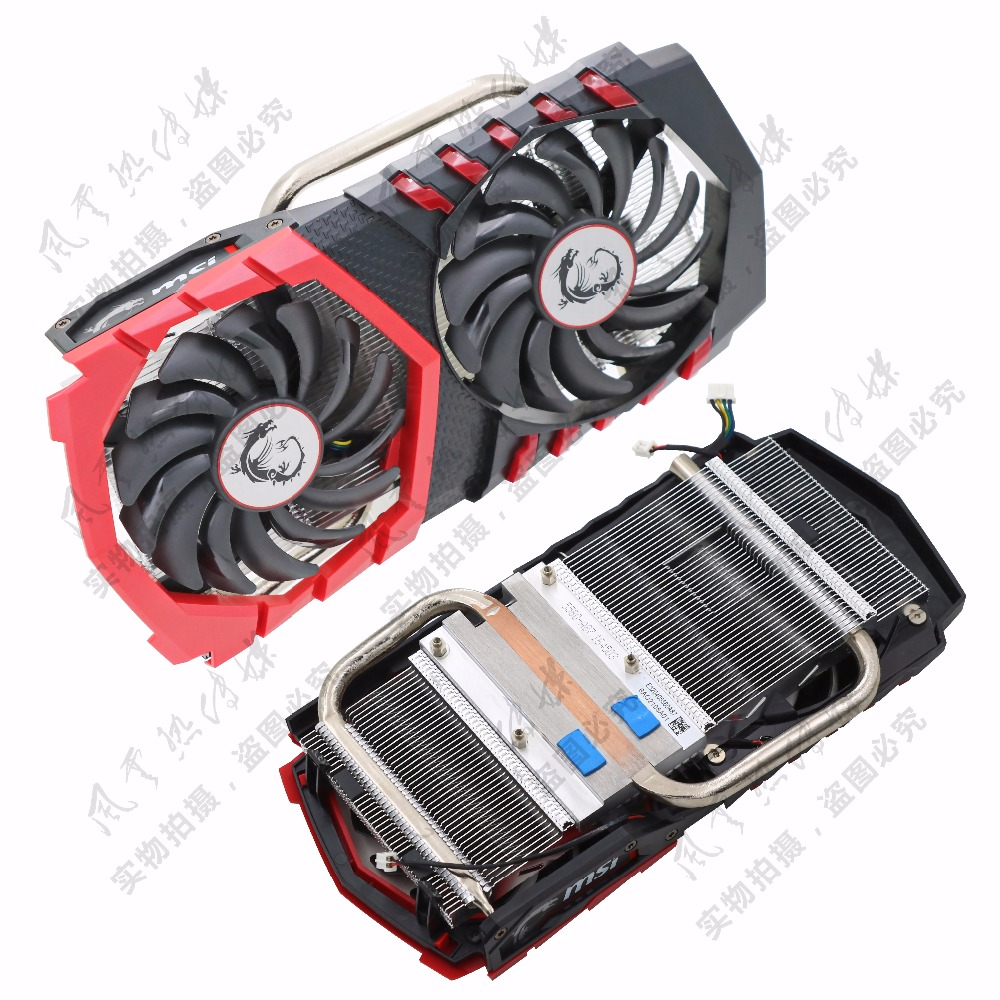 Original for MSI GTX1050Ti/GTX1050 GAMING red dragon video card radiator with dragon spi ...