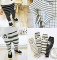 ins* 2016 unisex baby boys girls cotton knitted legging kids spring autumn striped pants 4 colors soft fashion free shipping