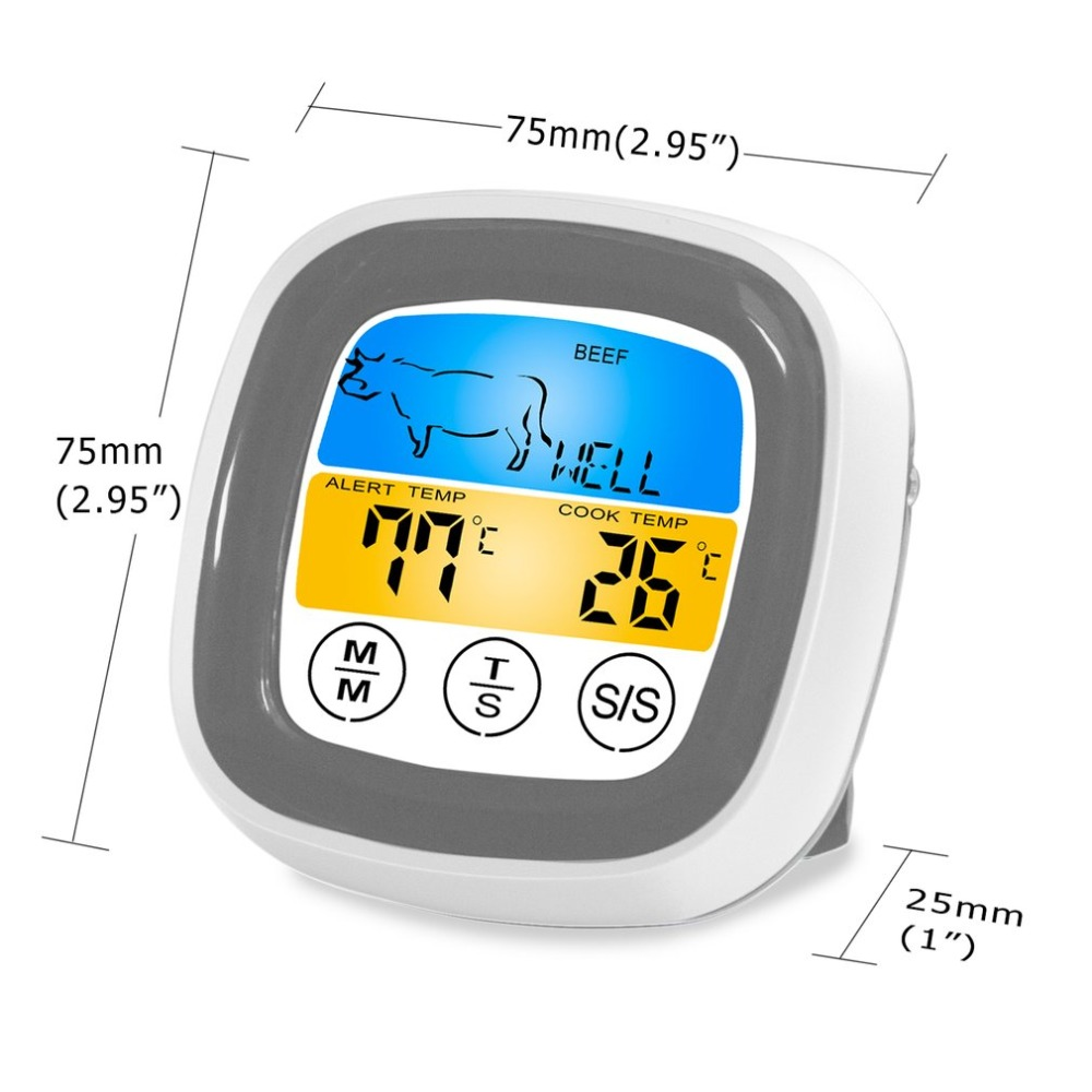 Digital Wireless Food Thermometer with Preset Temperature and Touch Screen Suitable for Perfect Cooking of Chicken Turkey and Fish 12