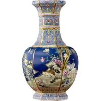 Цзиндэчжэнь керамика напольная ваза Qianlong год марка эмаль античная ваза Китайская классическая гостиная украшения ремесла