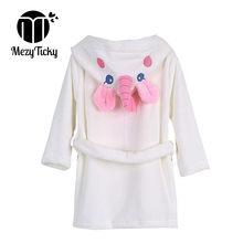 9b9d8775fea10 Peignoirs en flanelle pour enfants à capuche bébé enfants pyjamas de style  licorne garçons robes manches longues chemises de nui.