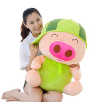 huge toy rich fruits design Mcdull pig Plush toy soft pig doll hugging pillow toy birthday gift p9088