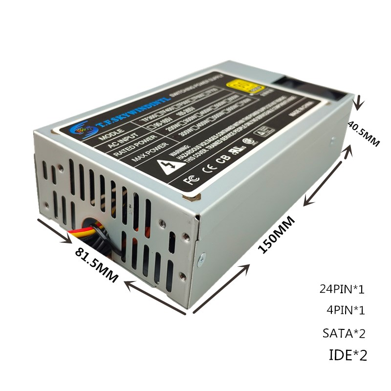Купить с кэшбэком 250W ATX Power Supply 250W Mini Itx power supply Small 1U power supply Applicable HTPC Advertising queuing machine one machine