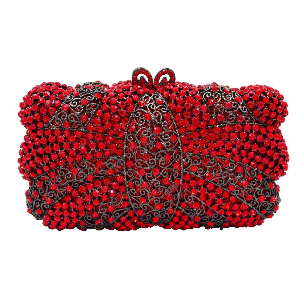 Rouge gold Noir red red Black Sc638 Sac Main Silver De Vert Mini Pochette À Femmes D'embrayage Chaîne Soirée Dame red gold Cristal green Diamant 2 Mode 1 zTRwCqw