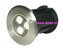 IP68 Good Quality High Power Outdoor 3W LED Spotlight Stainless Steel DS 11S 21 3W 3X1W