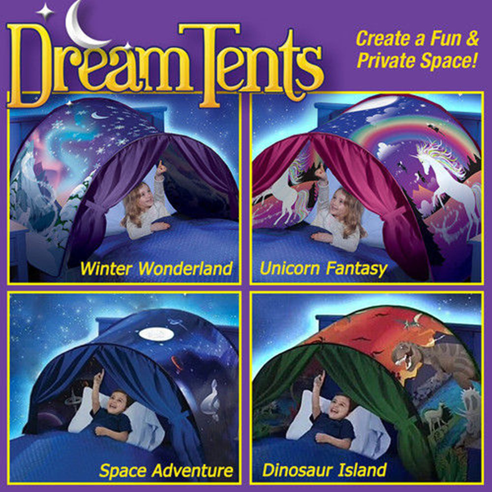 Children Fantasy Dream Tents Winter Wonderland Foldable Sky Tent Camping Outdoor Tent Indoor Bed Nets Christmas Gift for Kids
