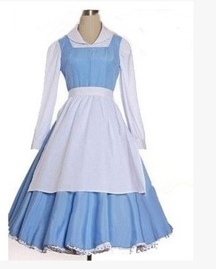Compare Prices on Belle Blue Dress Costume Beauty and The Beast ...