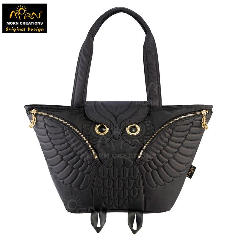 Hong Kong Original Design Morn Creations New 4-colors  Owl Handbag Flying Owl Tote bag Fashionable Ladies Handbags mavala pearl mini colors 019 цвет 019 hong kong