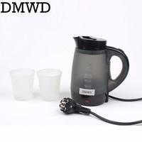 DMWD Mini Electric Kettle Travel Kettle Mini Heating Cup Household Student Dormitory Tea Pot 0 4L