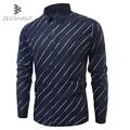 Zeeshant esmoquin xxxxl camisa a rayas camisas de vestir botón abajo camisa regular fit casual de negocios ropa de trabajo en hombres camisas de esmoquin