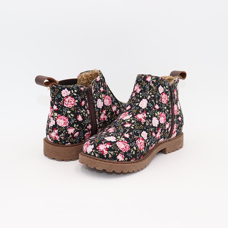 Tipsietoes Children's shoes autumn and winter 2018 children Korean version of Martin boots waterproof fabric boots цена