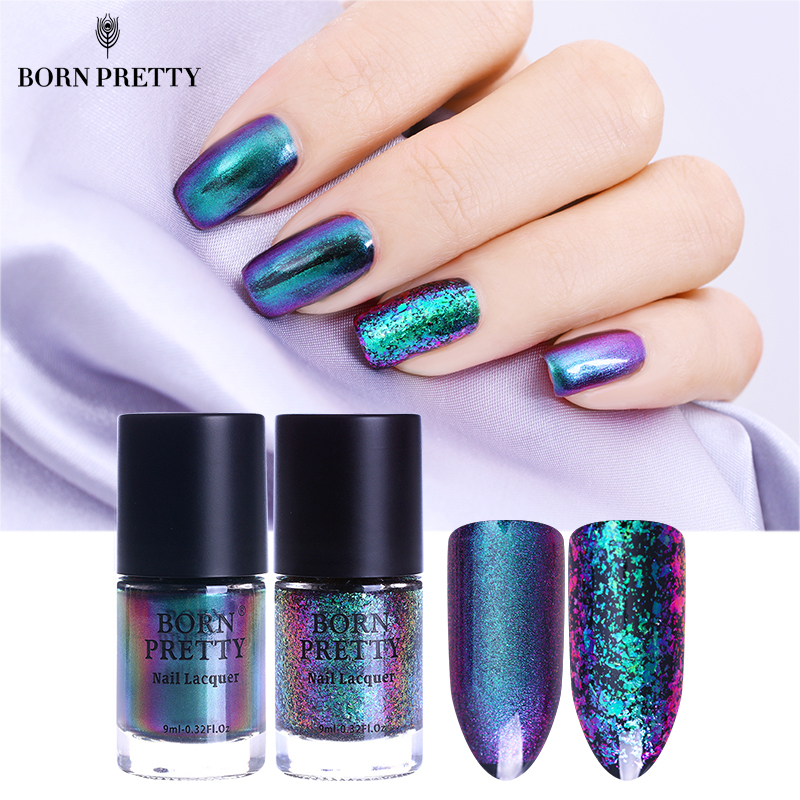 BORN PRETTY Chameleon Nail Polish 9ml Gold Violet Galaxy