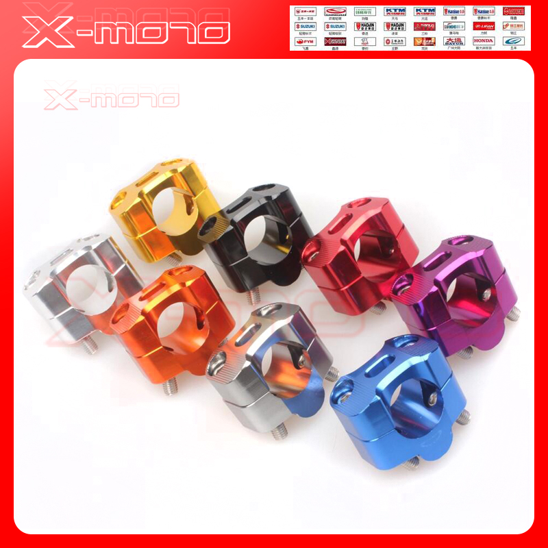 Motorcycle Bar Clamps Handlebar Bar Risers For 28MM 1-1/8 28mm Bar Pit Dirt Bikes COLOUR kemimoto motorcycle bar clamps raised handlebar handle bar risers for 22mm 7 8 28mm 1 1 8 for yamaha r1 r3 r6 for suzuki gsxr