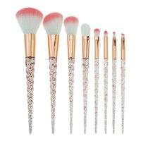 Bella Cullen Crystal Brushes Make Up 8 PCS Unicorn Makeup Brushes Pink Hair Blending Brush Cosmetic