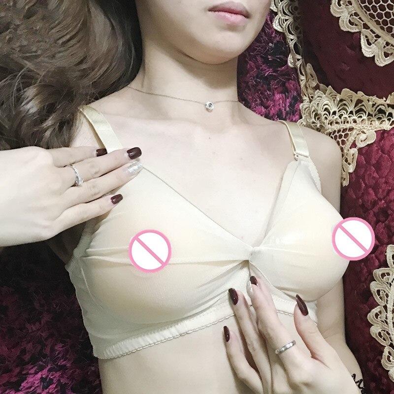 Image 3 - Sexy Crossdresser Shemale Transsexuals Bra Breast Form Silicone Boobs Bra Semi Transparent Pocket bra Not include Breast-in Bras from Underwear & Sleepwears