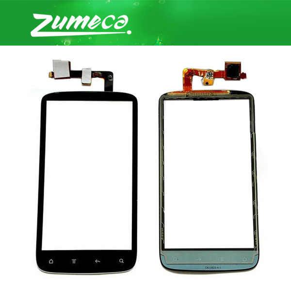 Di alta Qualità Per HTC Sensation 4G G14 Z710E Touch Screen Digitizer Touch Panel Glass Lens Parte di Ricambio Colore Nero