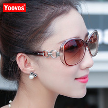 Yoovos 2019 Sunglasses Women Classic Gradient Oculos Brand Designer Oval Double Ring Sun Glasses Ladies Gafas De Sol Mujer UV400