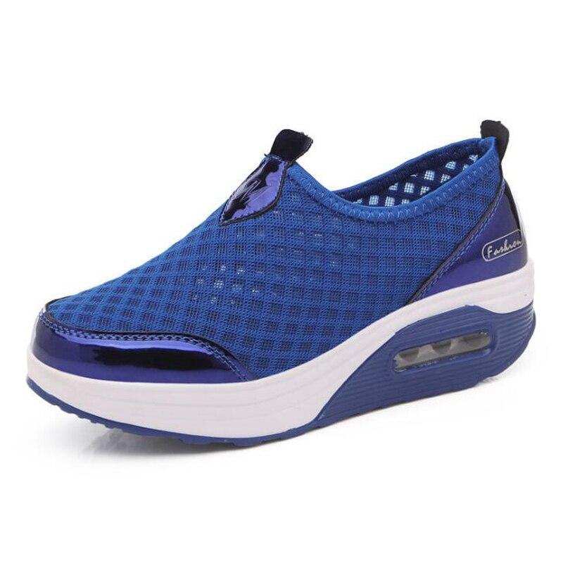Voyage grey Nouvelle Respirant Femme Arrivée Taille Plates Bonbons Dames Black Plus Femmes forme Chaussures blue Sneakers pink D'été Couleurs Maille Plate 41 De FITw11
