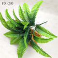 YO CHO искусственный папоротник, трава зеленое растение, искусственные папоротники, персидские листья, цветок, настенные Подвесные Растения, ...