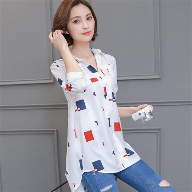 76bda6f3d63d49 2017 Women Blouse Shirt Casual Striped Print Loose Shirt Autumn Winter Cool Long  Sleeve Blouse Ladies Plus Size Tops 4XL ZY3676