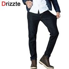 Drizzte мужская качество мода джинсы стрейч 33 34 35 36 38 40 42 44 Брюки Марка Модные Натяжные Мужчины Длинные Брюки Брюки