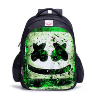 Hot high quality Game Battle Royale DJ marshmallo 3D Printed pattern school Bag student outdoor travel backpack laptop backpack