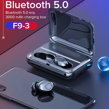 F9 Bluetooth 5.0 TWS Earphones Mini 5D Stereo True Wireless Earbuds Binaural Calling Handsfree IPX7 Waterproof Power Bank Holder цена 2017