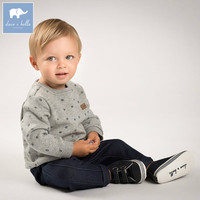 DB6076 Dave Bella Autumn Infant Boys Fashion Clothing Sets Children Grey Suit High Quality Toddler Outfits