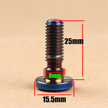 1 PCS blue M8*25MM metal moto screw brake disc fixed Bolts parts motorbike universal accessories M8 motorcycle decal