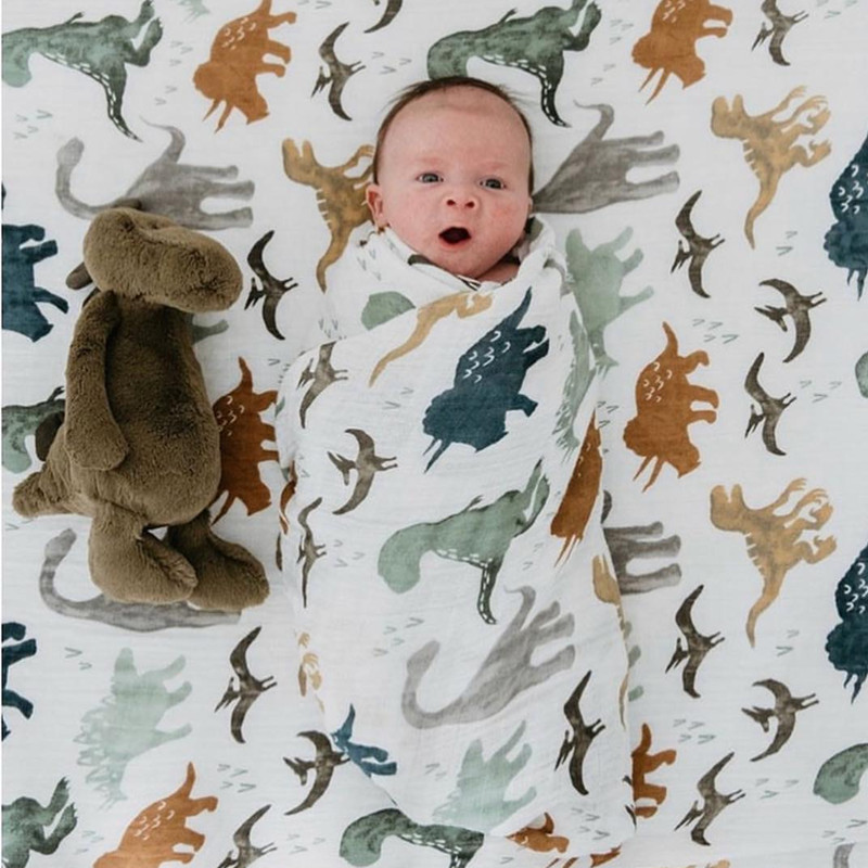 A 70% bamboo baby swaddle baby muslin blanket quality better than Aden Anais Baby Multi-use cotton/bamboo Blanket Infant Wrap fox muslin quilt four layer bamboo baby muslin blanket muslin tree swaddle better than aden anais baby blanket infant wrap