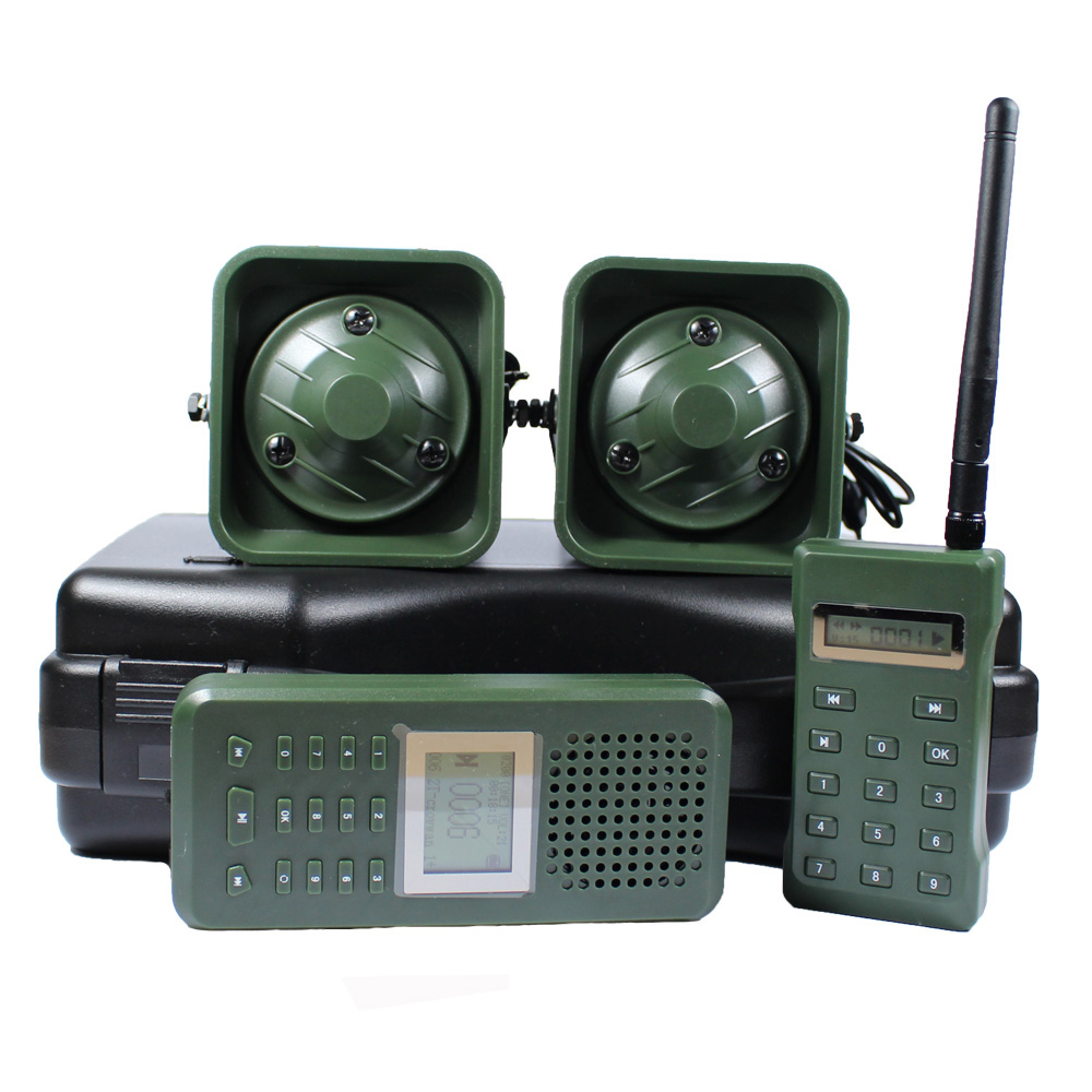 Hunting Decoy Bird Caller with Remote Control 2pcs 50w 150dB Loud Speaker Birds Sound Amplifier Goose Duck Hunting Trap