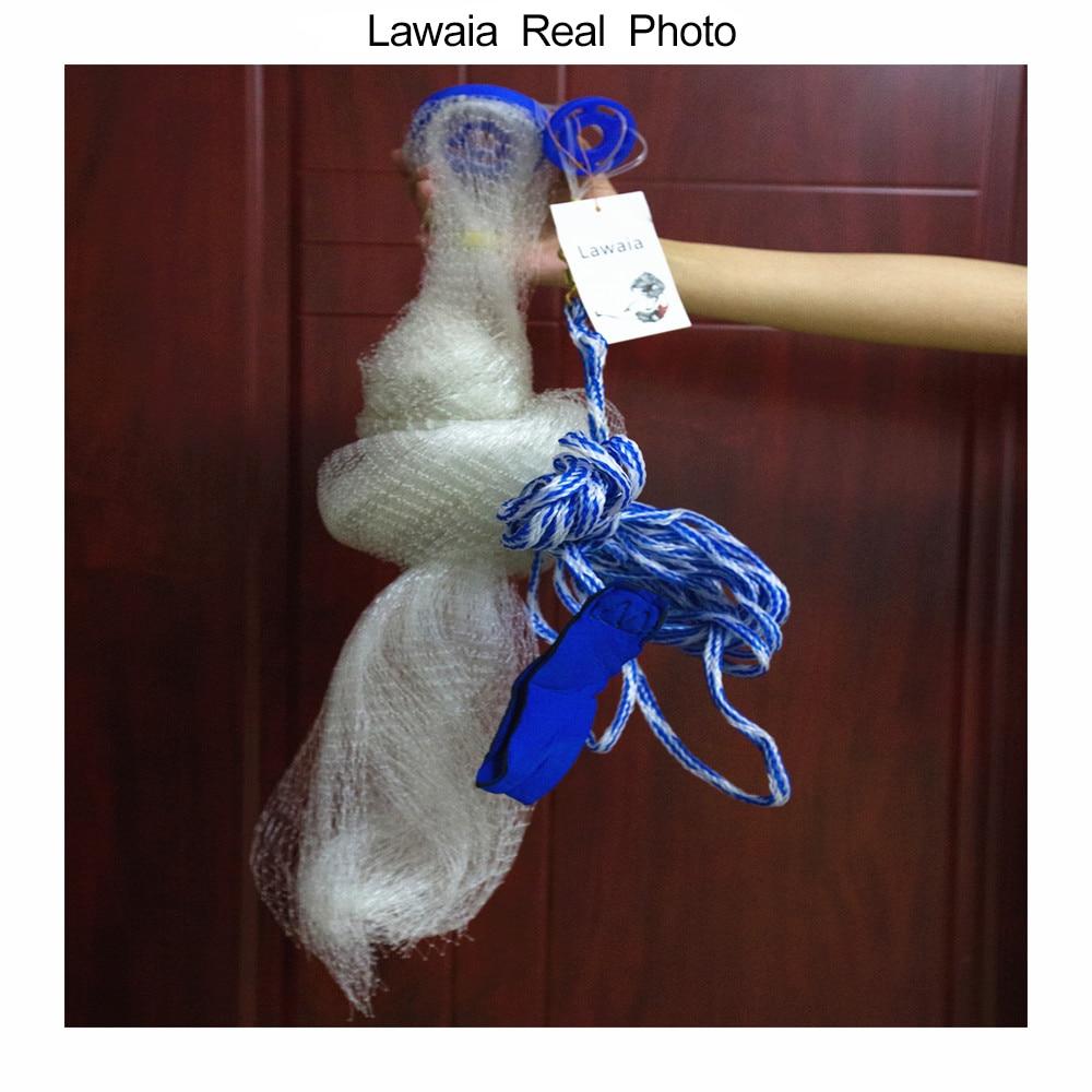 Lawaia American Hand Cast Net Diametrs 2,4 - 7,2 m Zvejas tīkls 4.2m - Makšķerēšana - Foto 3