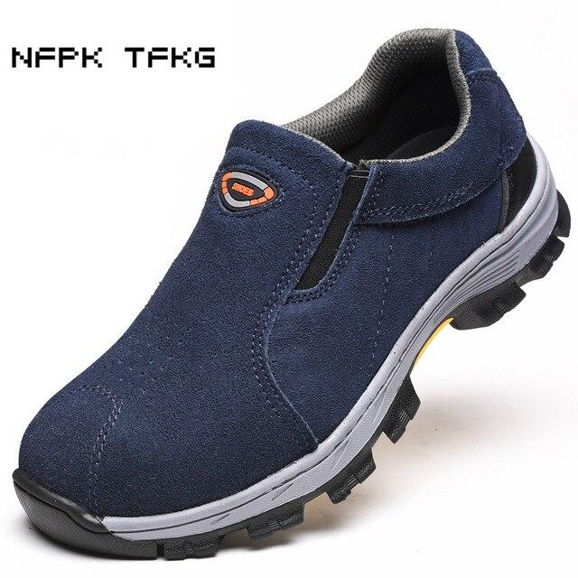 Hoge Werkschoenen Met Stalen Neus.Hoge Kwaliteit Mens Plus Size Comfortabele Stalen Neus Cover