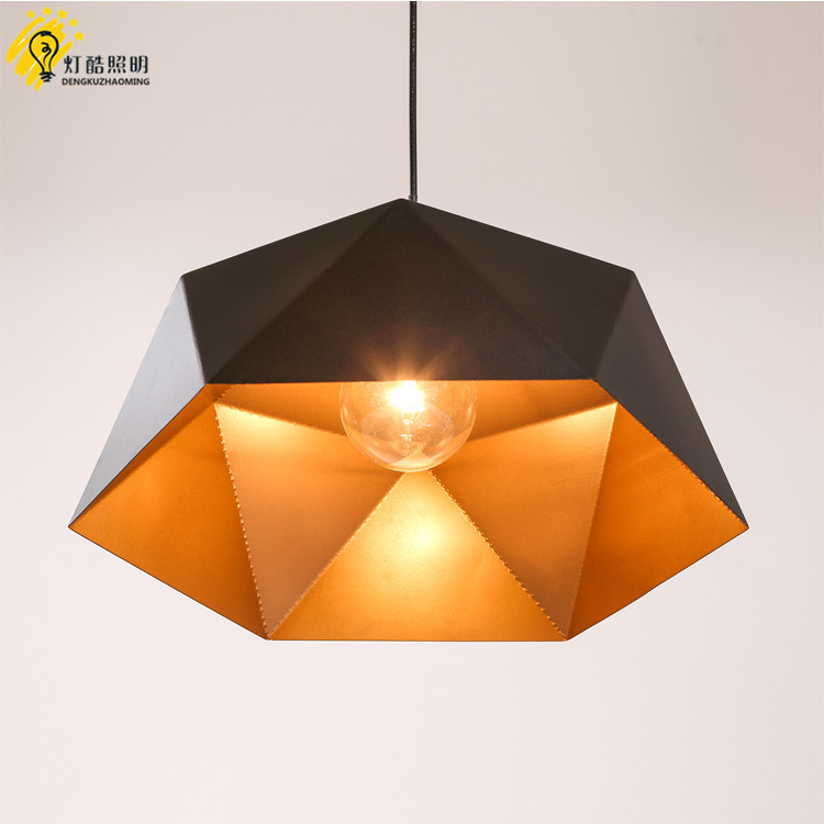 head geometry pot droplight cafe restaurant Industrial wind restoring ancient ways, wrought iron diamond pendant lamp - 4