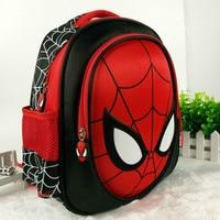 New Cool 3D Spiderman Cartoon Schoolbag High Quality Kids Student 13 Inch Backpack Child Kindergarten Boy